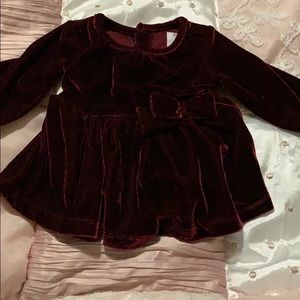 Newborn velour dress